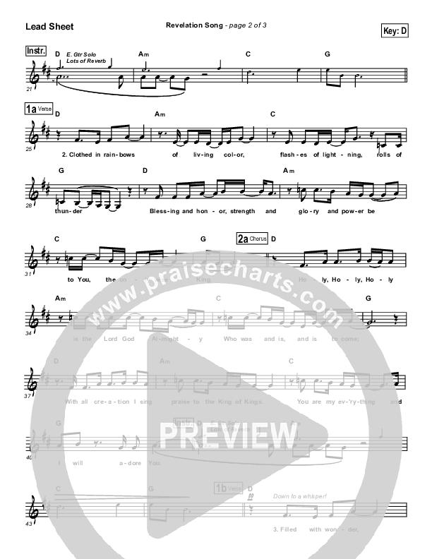 Revelation Song Lead Sheet (LaMar Boschman)