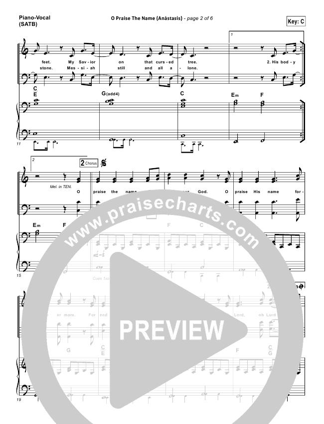 o praise the name sheet music pdf