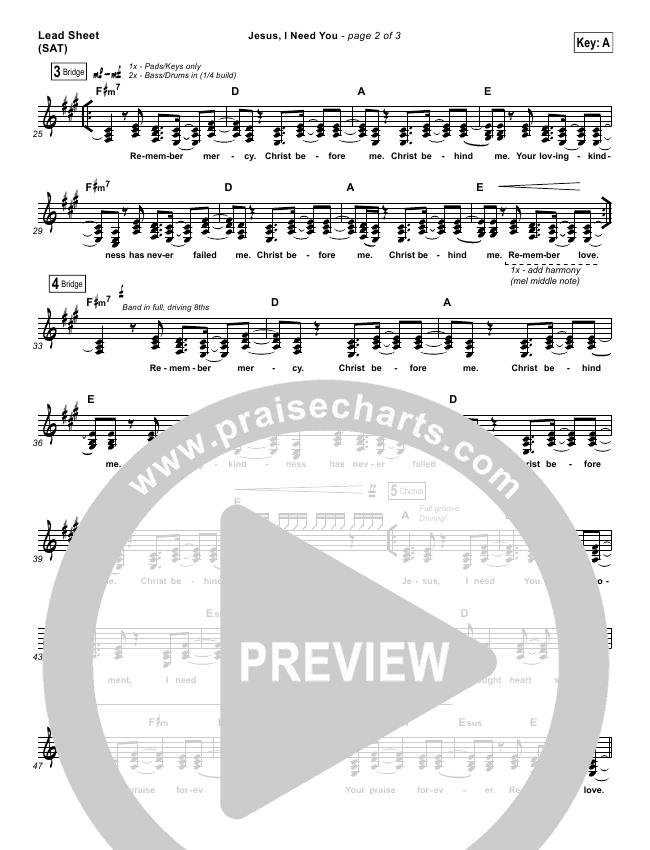 Jesus I Need You Orchestration - Hillsong Worship | PraiseCharts