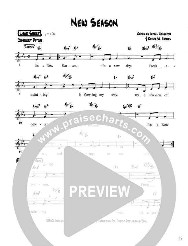 New Season Lead Sheet (Martha Munizzi)