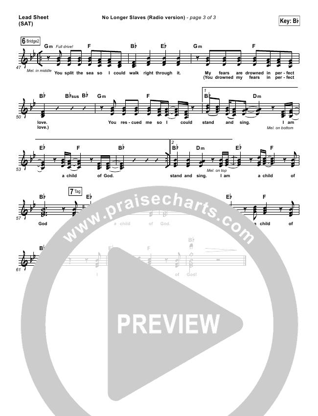 No Longer Slaves (Radio) Orchestration & Finale (Bethel Music / Jonathan David Helser)