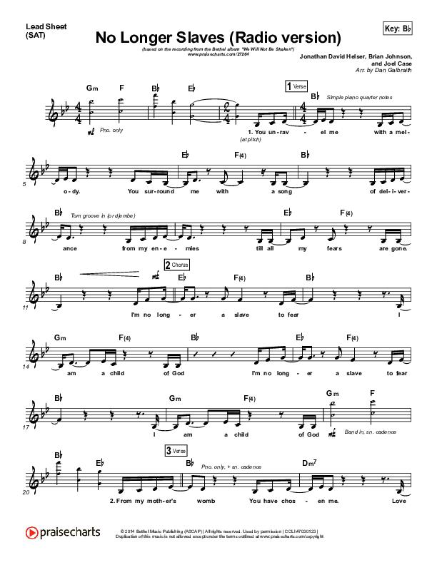 No Longer Slaves (Radio) Orchestration (Bethel Music / Jonathan David Helser)