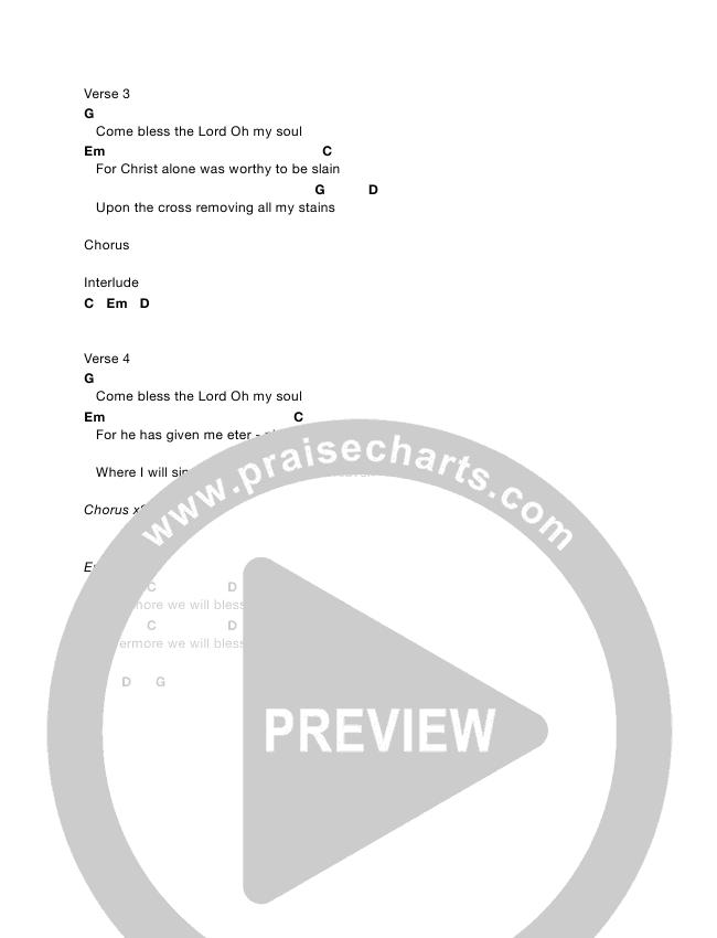 Come Bless The Lord Chords & Lyrics (Kurt Felsman)
