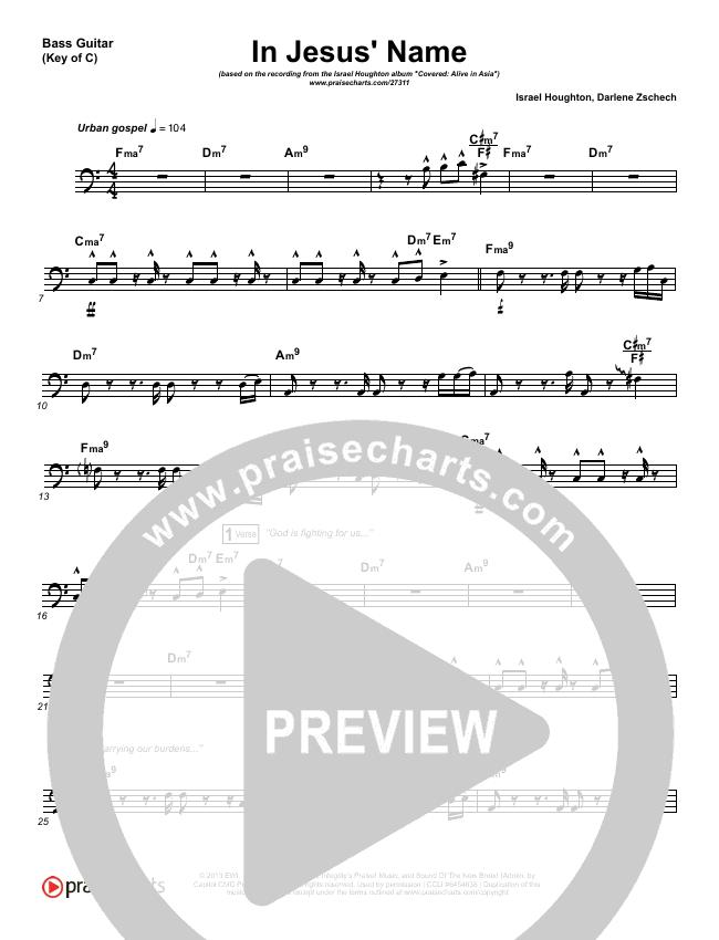 In Jesus' Name Bass Guitar (Israel Houghton)