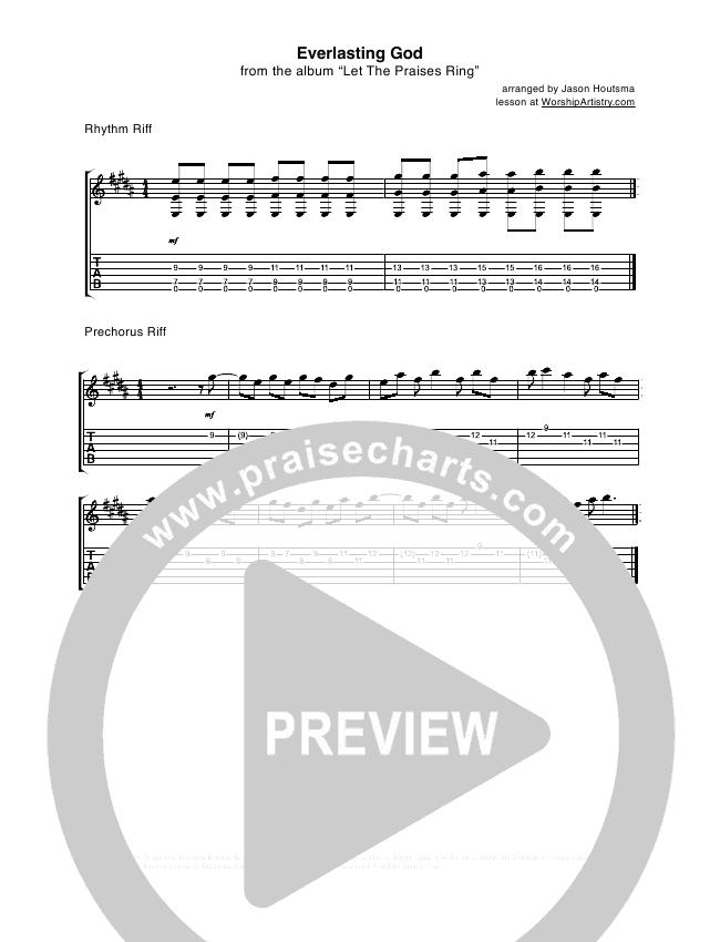 Everlasting God Guitar Tab Lincoln Brewster Praisecharts