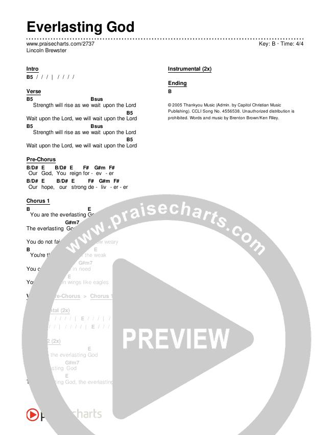 Everlasting God Chords & Lyrics (Lincoln Brewster)