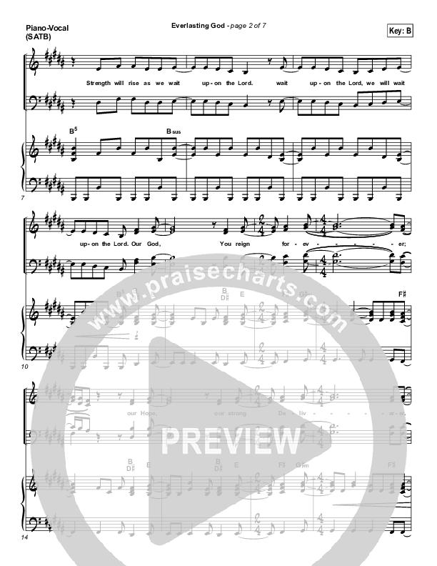 Everlasting God Piano/Vocal (SATB) (Lincoln Brewster)