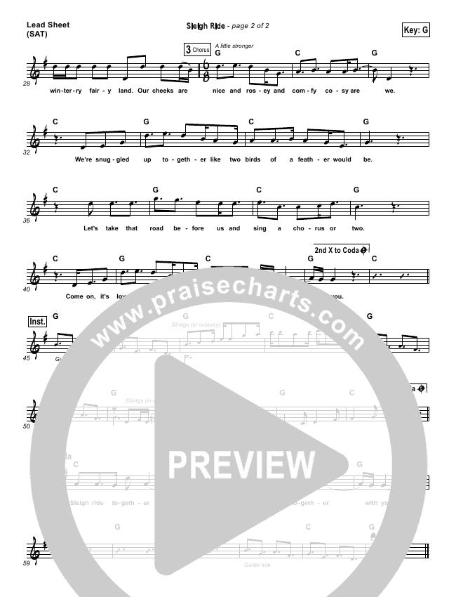 Sleigh Ride Lead Sheet - MercyMe | PraiseCharts