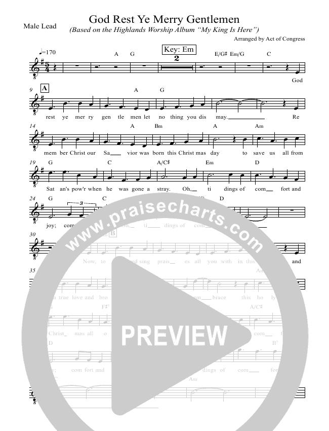 God Rest Ye Merry Gentlemen Orchestration (Highlands Worship)