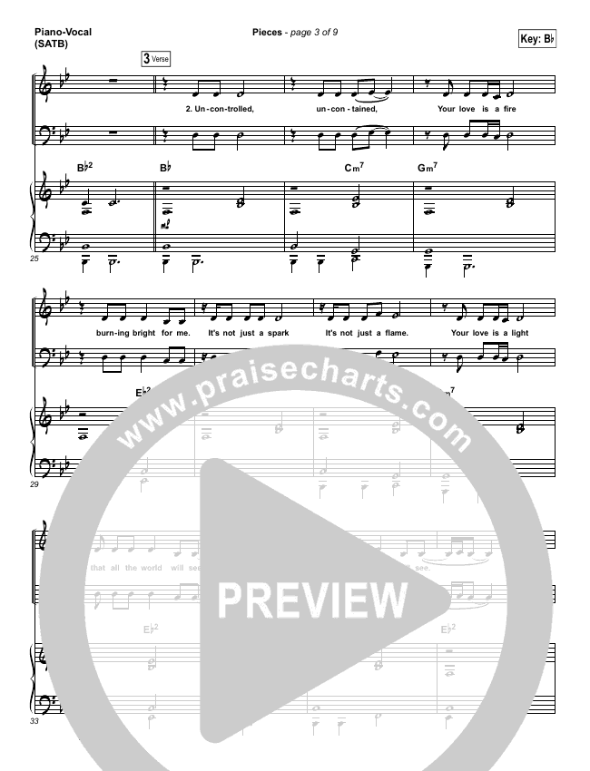 Pieces Piano/Vocal (SATB) (Amanda Lindsey Cook)