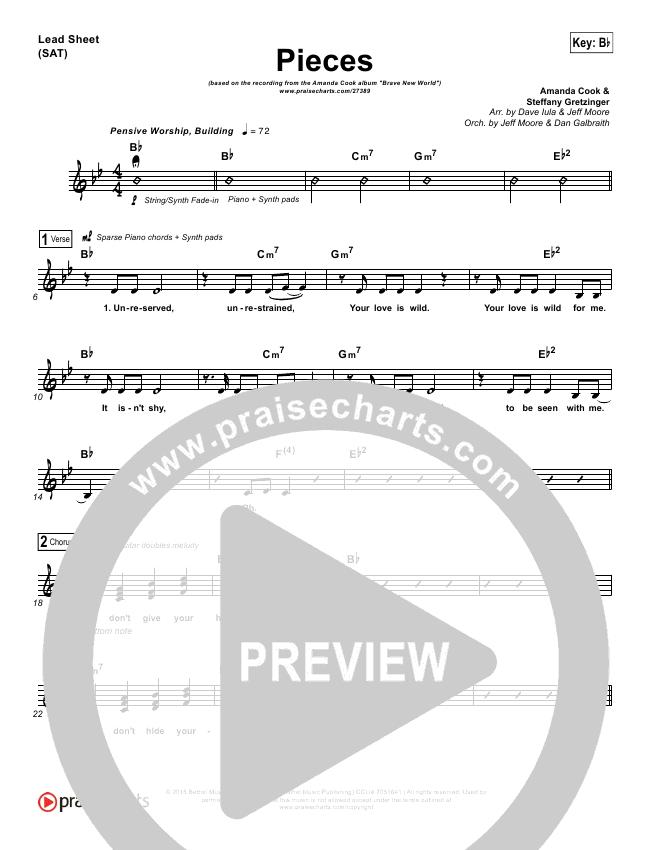 Pieces Lead & Piano/Vocal (Amanda Lindsey Cook)