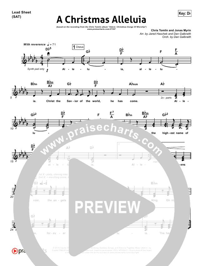 Chris Tomlin Christmas.A Christmas Alleluia Orchestration Chris Tomlin Lauren