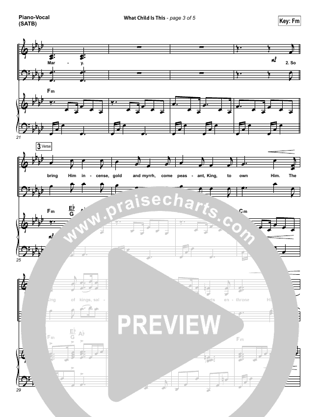 What Child Is This Piano/Vocal (SATB) (Chris Tomlin / All Sons & Daughters)