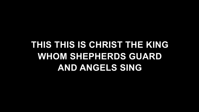 What Child Is This Lyric Slides (Chris Tomlin / All Sons & Daughters)