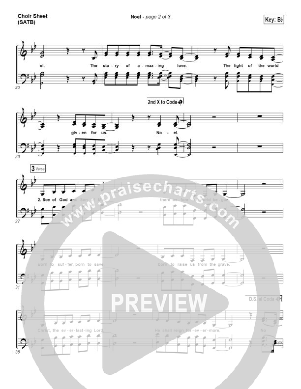Noel Choir Sheet (SATB) (Lauren Daigle)