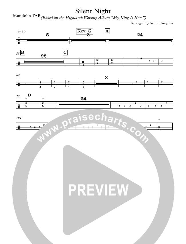 Silent Night Guitar Tab (Highlands Worship)