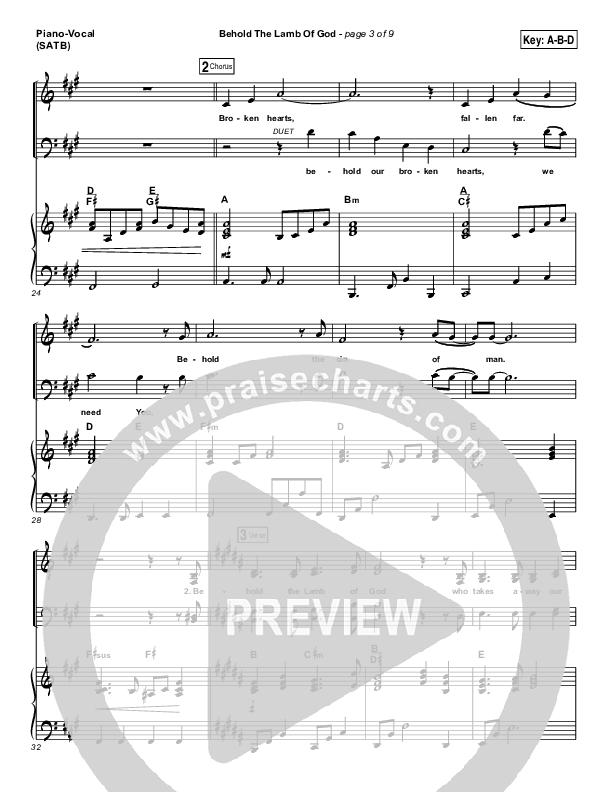 Behold The Lamb Of God Piano/Vocal (SATB) (Laura Story / Brandon Heath)