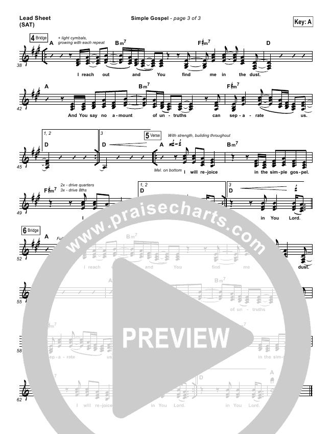 Simple Gospel Lead & Piano/Vocal (United Pursuit)