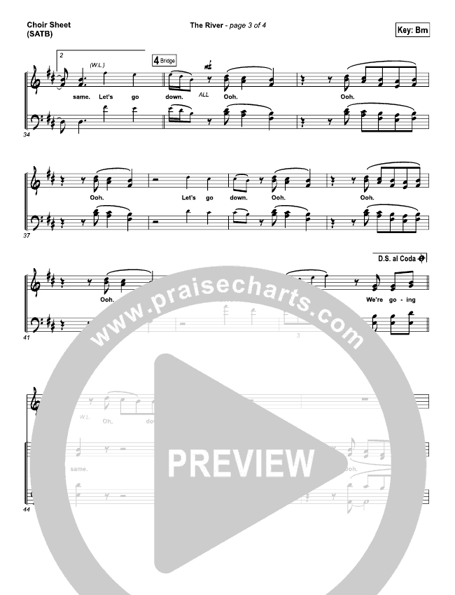 The River Choir Sheet (SATB) (Jordan Feliz)