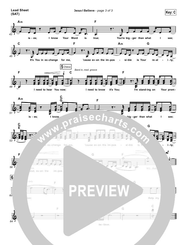 Jesus I Believe Orchestration & Finale (Big Daddy Weave)