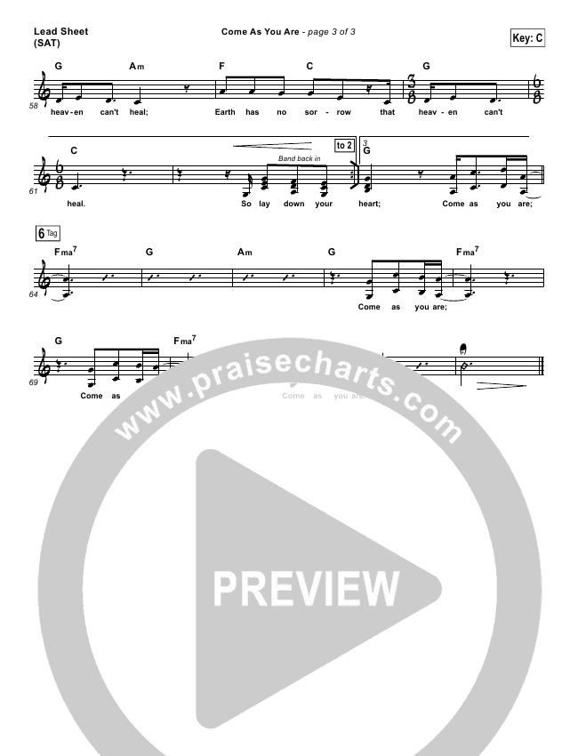 Come As You Are Lead & Piano/Vocal (David Crowder)