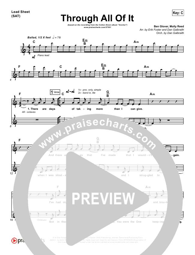 Through All Of It Lead & Piano/Vocal (Colton Dixon)