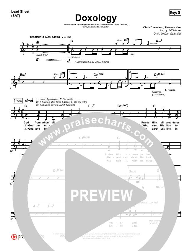 Doxology Lead Sheet & Piano/Vocal - Stars Go Dim | PraiseCharts