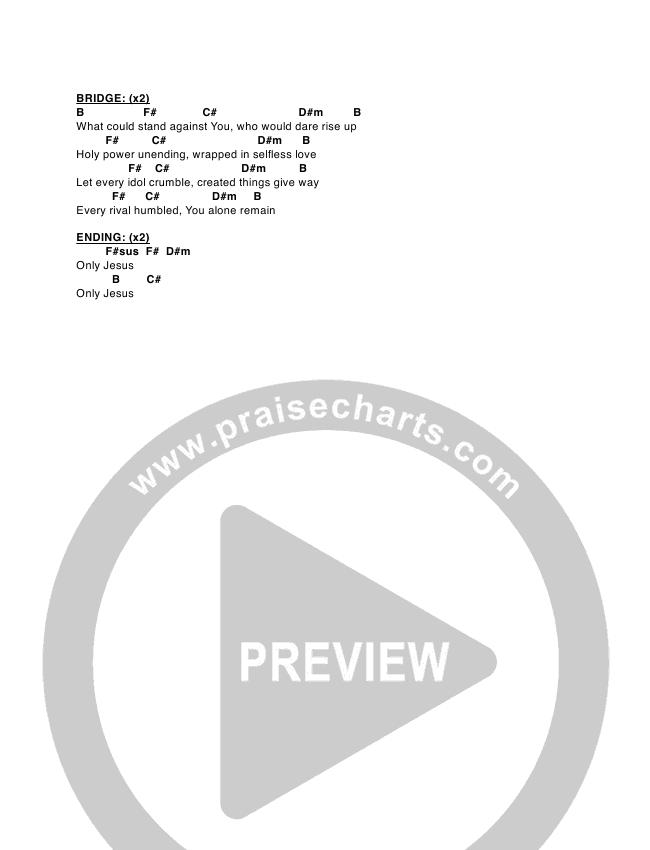 Only Jesus Chord Chart (Kellie & Kristen)