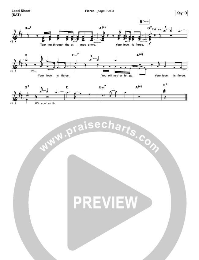 Fierce Lead & Piano/Vocal (Jesus Culture / Chris Quilala)