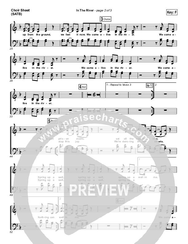 In The River Choir Sheet (SATB) (Jesus Culture / Kim Walker-Smith)