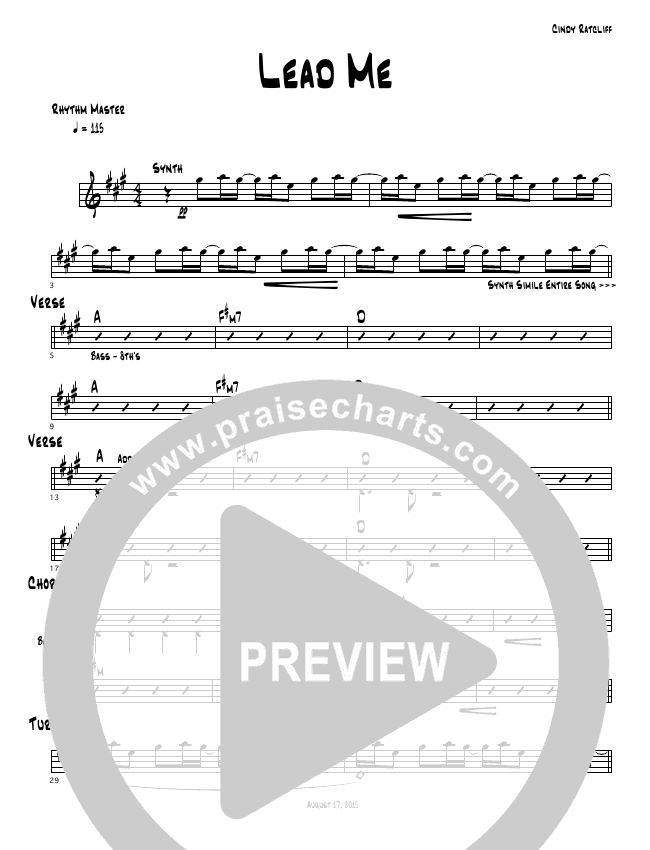 Lead Me Chords Cindy Cruse Ratcliff Praisecharts