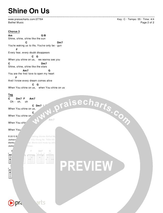 Shine On Us Chords & Lyrics (Bethel Music / William Matthews)