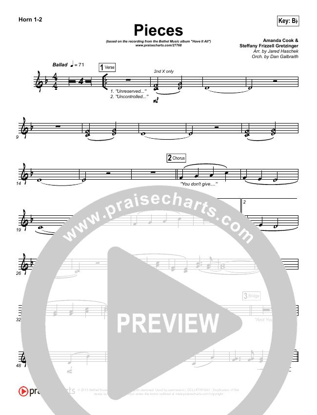 Pieces Brass Pack (Bethel Music / Steffany Gretzinger)