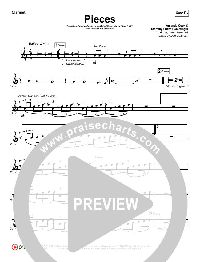 Pieces Wind Pack (Bethel Music / Steffany Gretzinger)