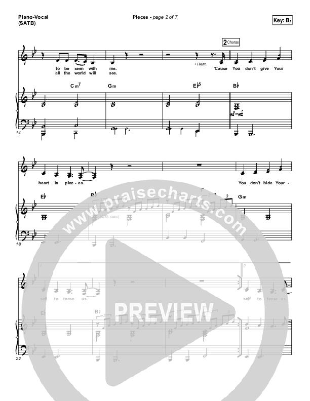 Pieces Piano/Vocal (SATB) (Bethel Music / Steffany Gretzinger)
