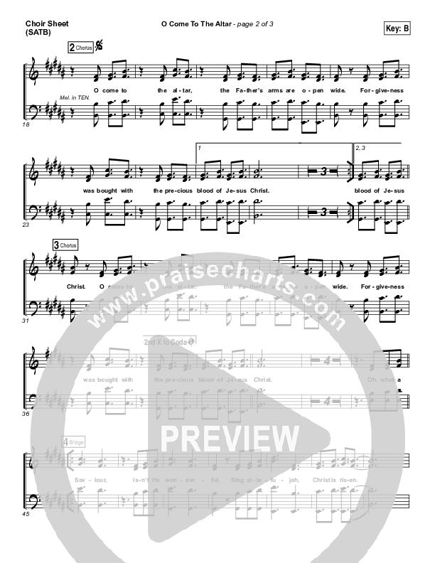 O Come To The Altar Choir Sheet (SATB) (Elevation Worship)