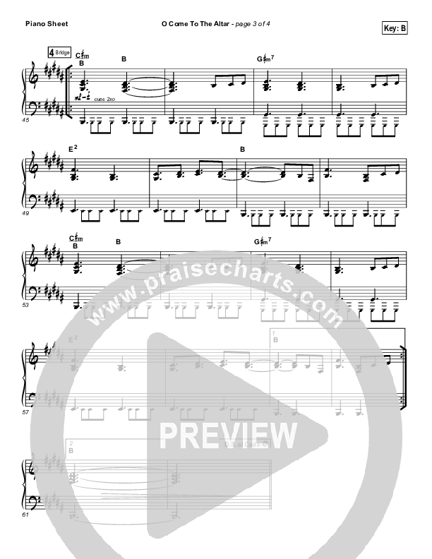O Come To The Altar Piano Sheet (Elevation Worship)