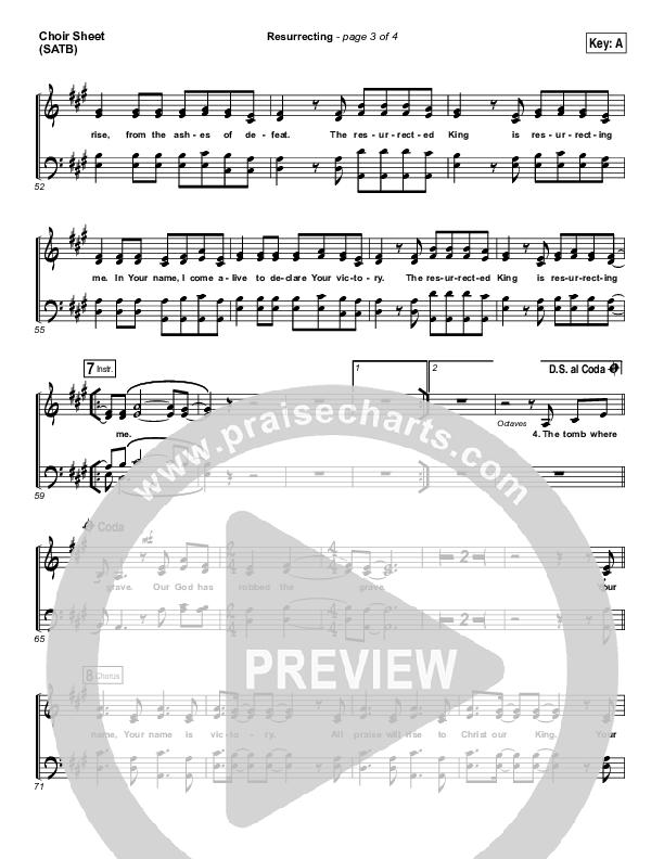 Resurrecting (Live) Choir Sheet (SATB) (Elevation Worship)