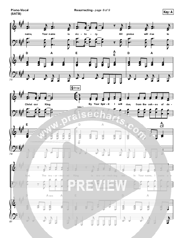 Resurrecting (Live) Lead & Piano/Vocal (Elevation Worship)