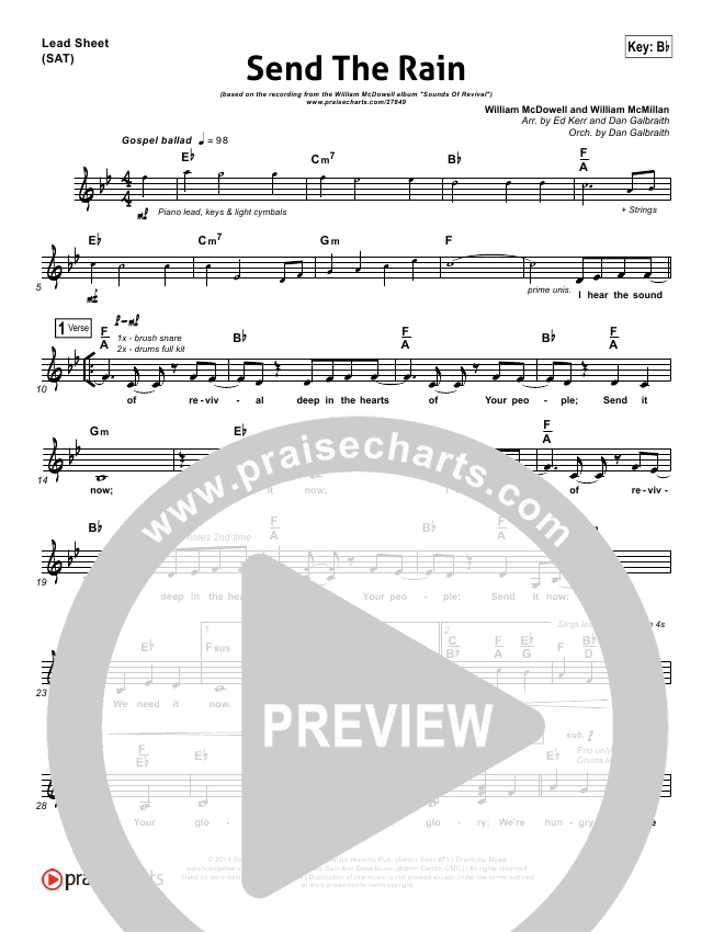 Send The Rain Orchestration & Finale (William McDowell)