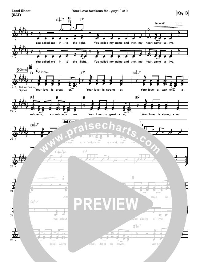 Your Love Awakens Me Piano/Vocal Pack (Phil Wickham)