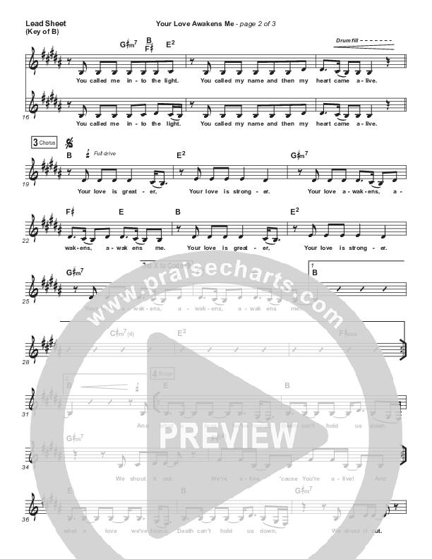 Your Love Awakens Me Lead Sheet (Melody) (Phil Wickham)