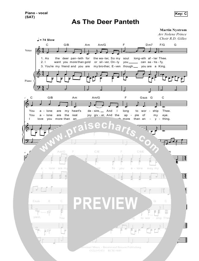 As The Deer Lead & Piano/Vocal (Dennis Prince / Nolene Prince)