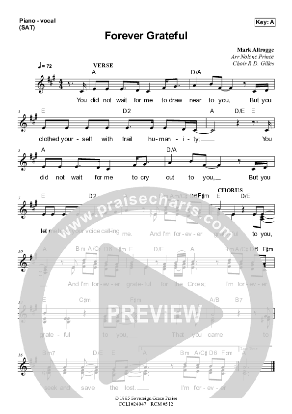 Forever Grateful Piano/Vocal Pack (Dennis Prince / Nolene Prince)