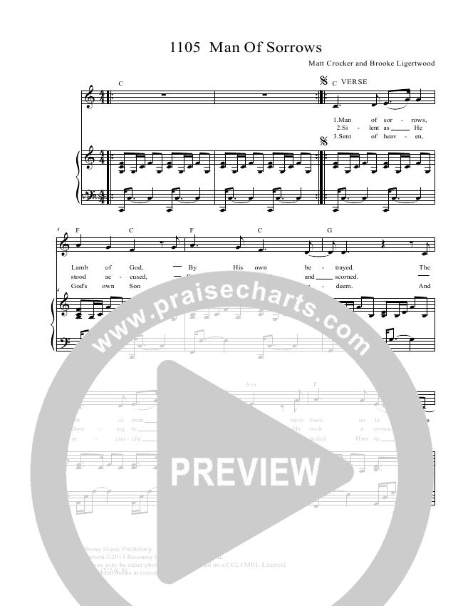 Man Of Sorrows Lead & Piano/Vocal (Dennis Prince / Nolene Prince)