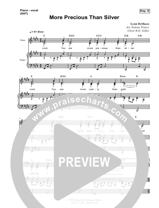 More Precious Than Silver Lead & Piano (Dennis Prince / Nolene Prince)