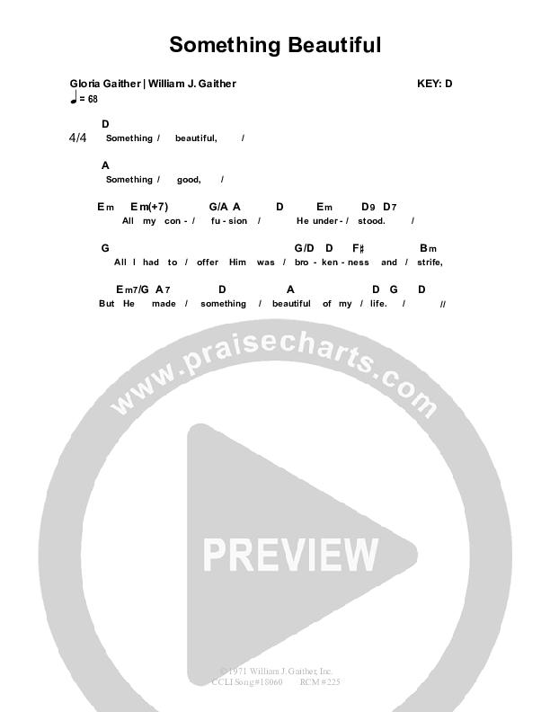 Something Beautiful Chord Chart (Nolene Prince)