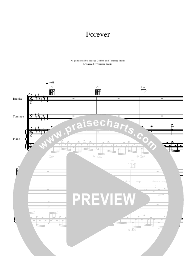 Forever Piano/Vocal (Tommee Profitt & Brooke Griffith)
