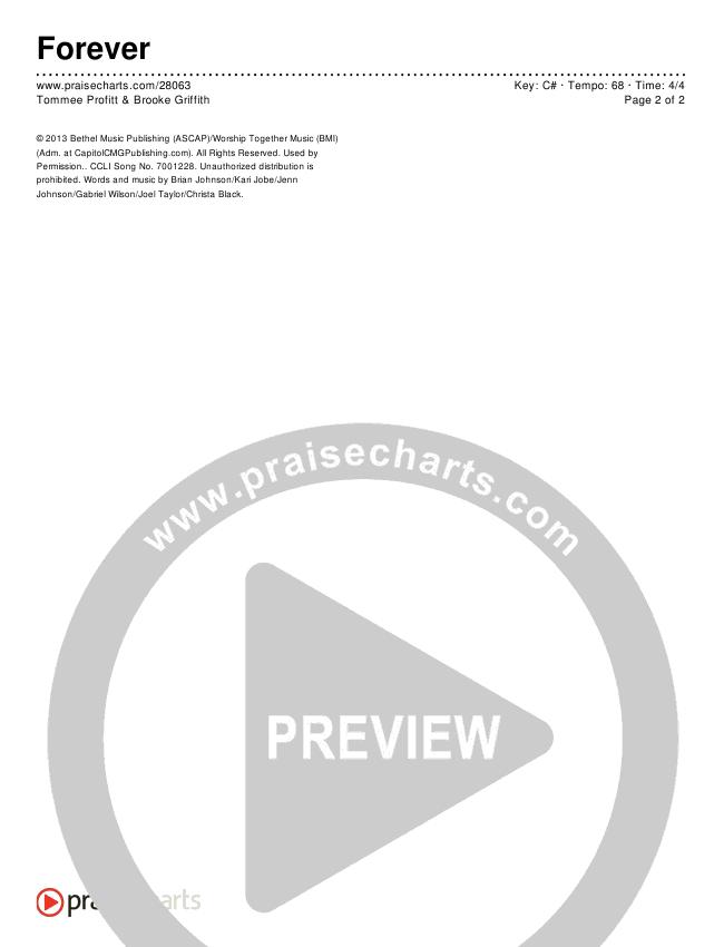Forever Chords & Lyrics (Tommee Profitt & Brooke Griffith)