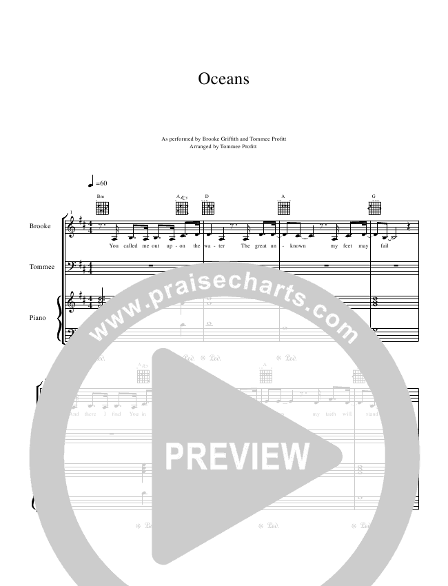 Oceans (Where Feet May Fail) Piano/Vocal (Tommee Profitt & Brooke Griffith)